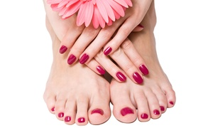 Best Nails: One Shellac Manicure or Signature Pedicure at Best Nails (Up to 43% Off)