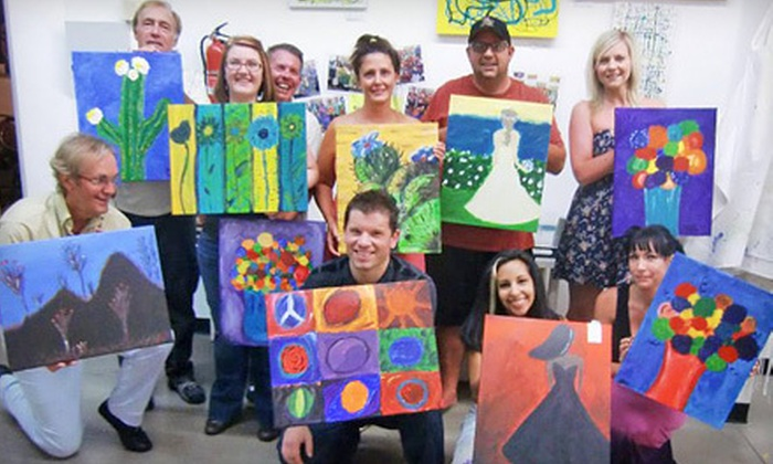SunDust Art Gallery - Downtown Mesa: Walk-In Painting Session for One or Two, or BYOB Painting Class for Two or Four at SunDust Gallery (Up to 54% Off)