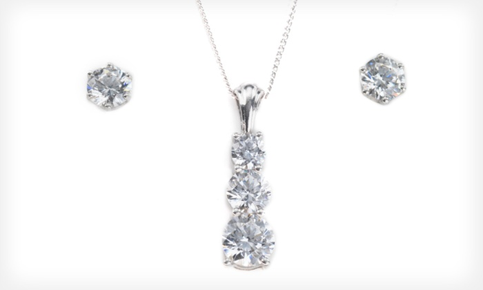 Jewelry Set with Swarovski Zirconia: $19 for Earrings and a Pendant Necklace with Swarovski Zirconia ($149 List Price). Free Shipping and Free Returns.
