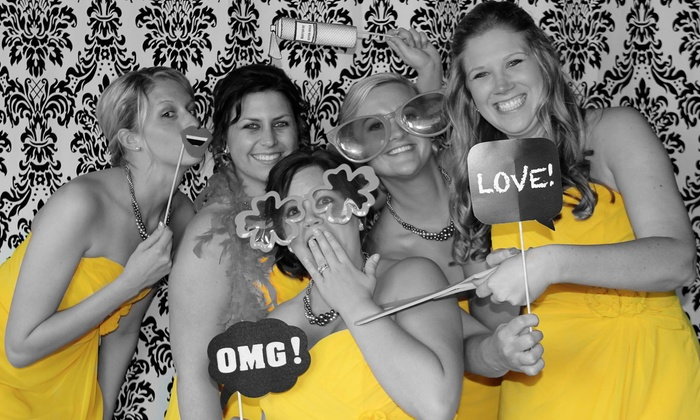 Happy Days Photography - Grand Rapids: 90-Minute, Two-Hour, or Three-Hour Photo-Booth Rental Package from Happy Days Photography (Up to 51% Off)