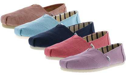 49b2b7a86bb Shop Groupon Toms Women s Classic Heritage Canvas Shoes
