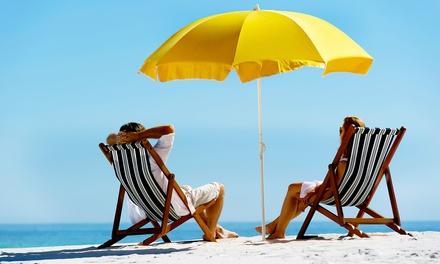 Transats parasol et matelas avec cocktails ou glaces en bord de mer pour 2 p - Matelas groupon avis ...