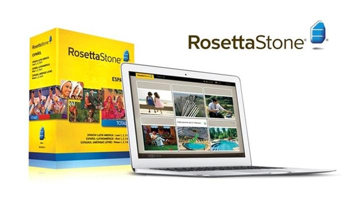 Rosetta Stone Level 1–4 Set: Rosetta Stone English, French, Italian, or Spanish Level 1–4 Set