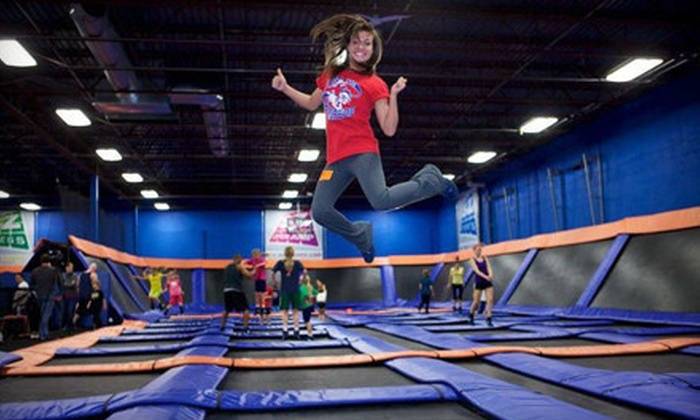 Sky Zone Indoor Trampoline Park - Lost Lake: 90 Minutes of Jump Time for Two, Four, or Six at Sky Zone Indoor Trampoline Park (Up to 56% Off)