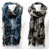 Embossed Square Block Scarves