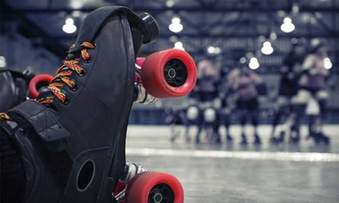 Just For Fun Roller Rink - Multiple Locations: Roller Skating for Four with Optional Hot Dogs, Chips, and Drinks at Just For Fun Roller Rink (Up to 62% Off)