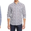 Jachs Men's Printed Long-Sleeved Cotton Button-Up