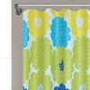 Floral Shower-Curtain Set with Hooks