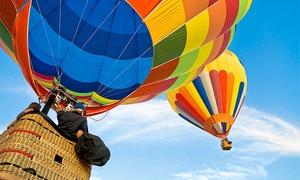 Green Aeroestation: Paga 9 € por un descuento de 60 € en un viaje en globo con desayuno, desplazamiento y cava
