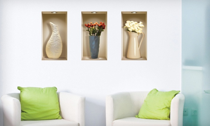 3-D Wall Decals : $15 for a Set of Three 3-D Wall Decals ($29.99 Value). 10 Designs Available.