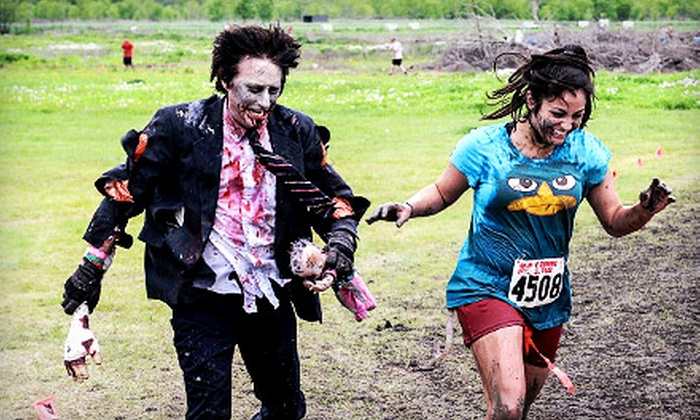 Zombie Race - Springfield: Race Registration for 5K or 15K or One-Night Campsite Rental at Zombie Race (Up to 57% Off)