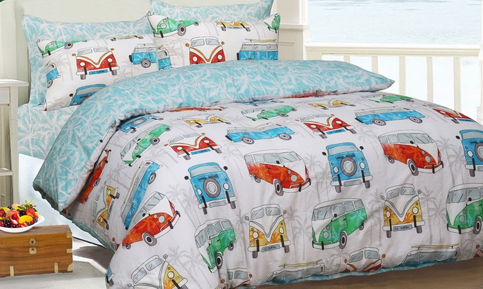 Sleepdown Tropical Campervan Reversible Duvet Set (£9)