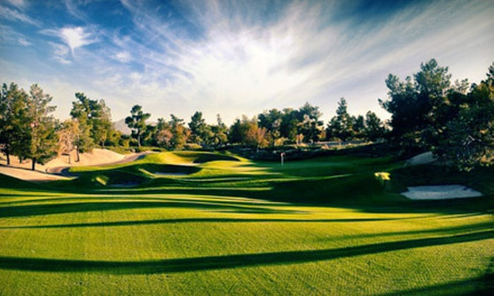 null - Multiple Locations: Golf Outing with Cart at Royal Links Golf Club or Desert Pines Golf Club (Up to 55% Off). Three Options Available.