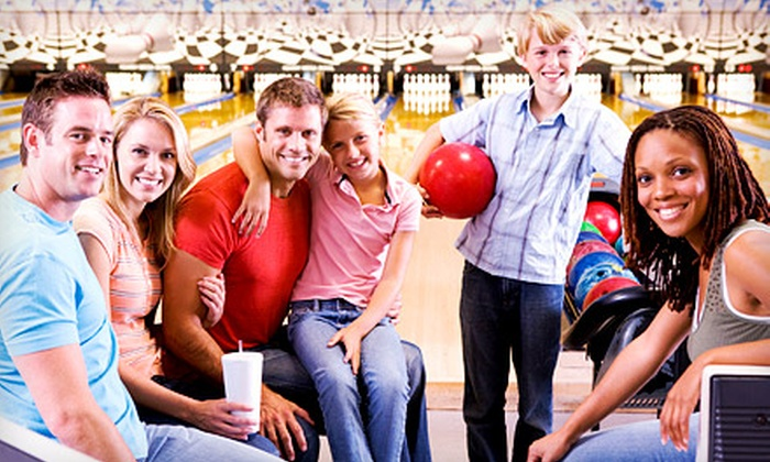 Rockford-Area Bowling Centers - Multiple Locations: $25 for Two Hours of Bowling for Five with Shoes, Pizza, and Drinks at Rockford-Area Bowling Centers (Up to $68 Value)