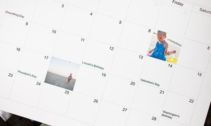 "Up to 59% Off Photo Calendars from Picaboo: One or Two 11""x9"" Custom Photo Calendars from Picaboo (Up to 59% Off)"