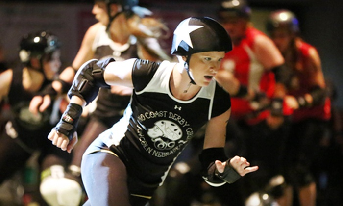 No Coast Derby Girls - Pershing Center: $16 for No Coast Derby Girls Roller Derby Bout for Two at Pershing Center ($38.40 Value). Four Dates Available.