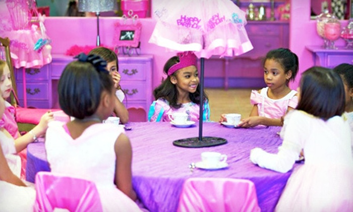 The Tickled Pink Party Palace - Northwest Harris: $145 for a 90-Minute Princess Tea Party for Up to Eight Girls at The Tickled Pink Party Palace ($295 Value)