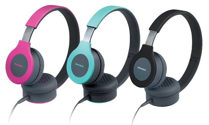 Urban Beatz Flux Headphones with Microphone: Urban Beatz Flux Headphones with In-Line Microphone. Multiple Colors Available. Free Returns.