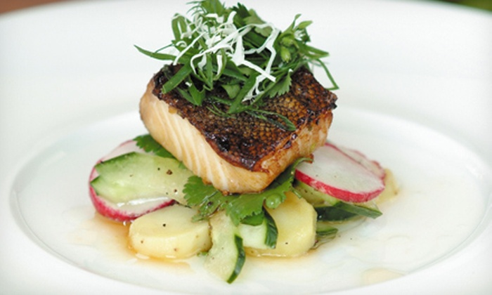 Seagrille Seafood & Sushi - Brentwood Bay, BC: Five-Course Seasonal Tasting Menu for Two, Four, or Six at Seagrille Seafood & Sushi (Half Off)