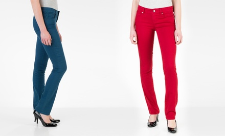 Isaac Mizrahi Women's Emma Slim Straight-Leg or Samantha Skinny Jean. Multiple Colors. Free Returns.