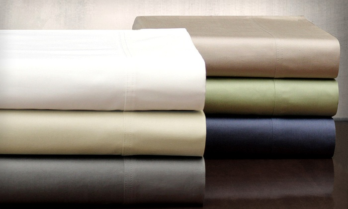 Symphony 400TC Egyptian-Cotton Sheets: $49 for a Symphony 400-Thread-Count Egyptian-Cotton Sheet Set (Up to $209.99 List Price). 22 Options Available.