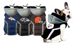 Nfl Afc Dog Puffer Vests In Multiple Sizes From $26.99–$39.99