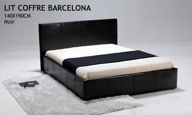 lit coffre torino ou barcelona avec sans matelas m moire de forme groupon shopping. Black Bedroom Furniture Sets. Home Design Ideas