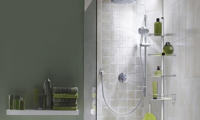 jusqu 39 55 tag re douche acier inoxydable groupon. Black Bedroom Furniture Sets. Home Design Ideas