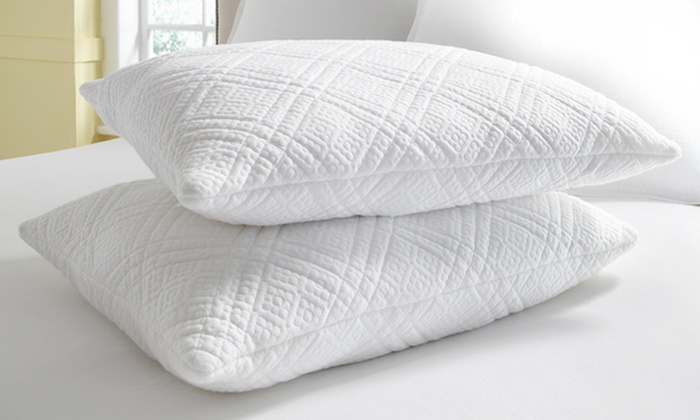 kathy ireland RESORT 2-Pack of Memory-Foam Pillows: kathy ireland RESORT 2-Pack of Jumbo or King Quilted Memory-Foam Pillows. Free Shipping.