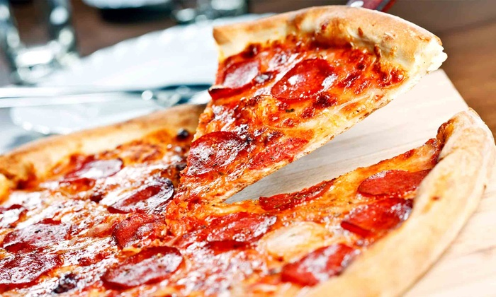 Fisherman's Pizzeria - Fisherman's Wharf: Meal with 13-Inch Four-Topping Pizza and Wine for Two or Four at Fisherman's Pizzeria (Up to 51% Off)