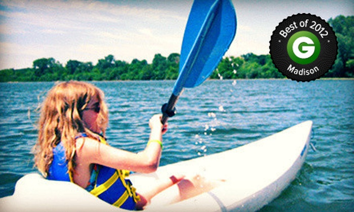 Wingra Boats - Madison: Two-Hour Kayakor Canoe Rental, or a One-Hour Standup-Paddleboard Rental or Lesson at Wingra Boats (Up to 58% Off)