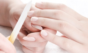 Four Season Nail & Spa: One or Two Shellac Gel Manicures or One UV Gel French Manicure at Four Season Nail & Spa (Up to 52% Off)