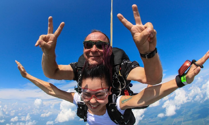 Chicagoland Skydiving Center - Rochelle: Tandem Skydive with Option for HD Video and Photos at Chicagoland Skydiving Center (Up to 24% Off)