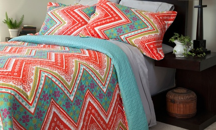 2- or 3-Piece Printed Quilt Set in Multiple Sizes from $24.99–$36.99. Free Returns.