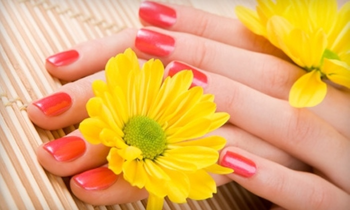 Beauty at Hand - Hunter's Ridge Shopping Center: OPI Axxium Gel Manicure, Spa Pedicure, or Both at Beauty at Hand (Up to 53% Off)