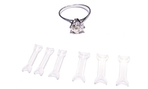 Invisible Ring Sizer with Memory Material (6-Pack)