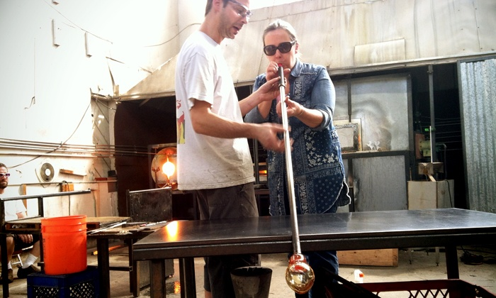 Slow Burn Glass - McClymonds: Beginners' Glass-Blowing Class for One or Two at Slow Burn Glass (Up to 60% Off)