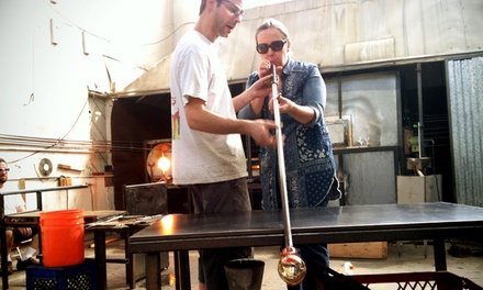 Beginner's Glass-Blowing Class with Optional Continuing Glass-Blowing Class at Slow Burn Glass (Up to 60% Off)