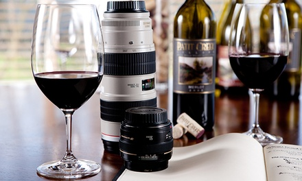 Four-Hour Comprehensive Photography Class and Wine Tasting for One, Two, or Four at Cork & Click (Up to 55% Off)
