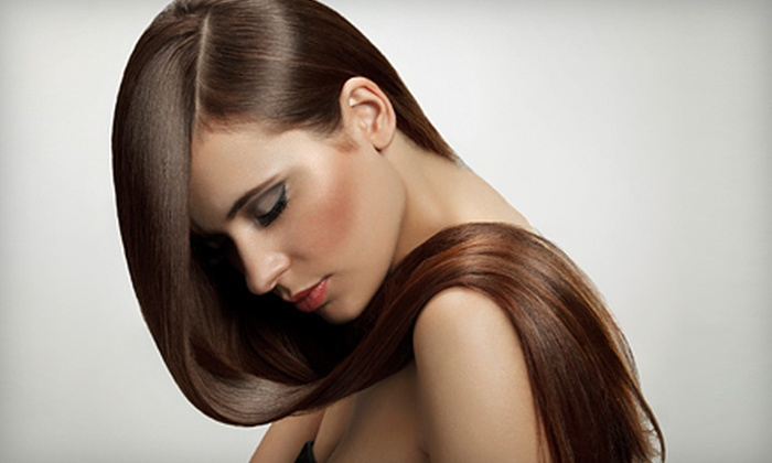Requel Anthonys Grand Salon - Livingston - McNaughten: Keratin Treatment with Style, or Cut, Style, and Deep Conditioning at Requel Anthonys Grand Salon (Up to 53% Off)