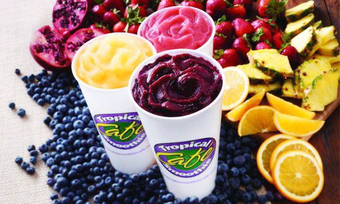 Tropical Smoothie Cafe - Lyndhurst: 5 Smoothies, Each Smoothie with One Supplement Shot at Tropical Smoothie Café (Up to 44% Off)