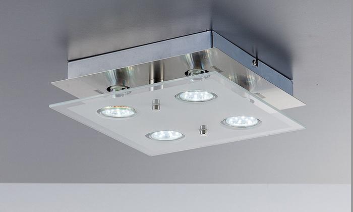 Illuminazione Led Da Soffitto : Fino a su lampadario con faretti led groupon