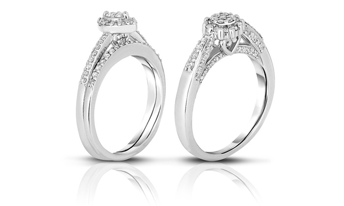 1/3-Carat Diamond Bridal Set in Sterling SIlver and 24K Gold (H-I, I1-I2): 1/3-Carat Diamond Bridal Set in Sterling SIlver and 24K Gold (H-I, I1-I2). Free Shipping and Returns.