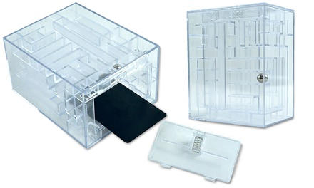 Maze Brainteaser Puzzle with Unlockable Gift Card Compartment