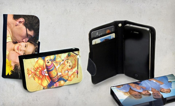 Custom Wallet Case for an iPhone 4 or a Samsung Galaxy S3 or S4: Custom Wallet Case from Picture It on Canvas. Available for an iPhone 4 or a Samsung Galaxy S3 or S4 from $16.99–$23.99.
