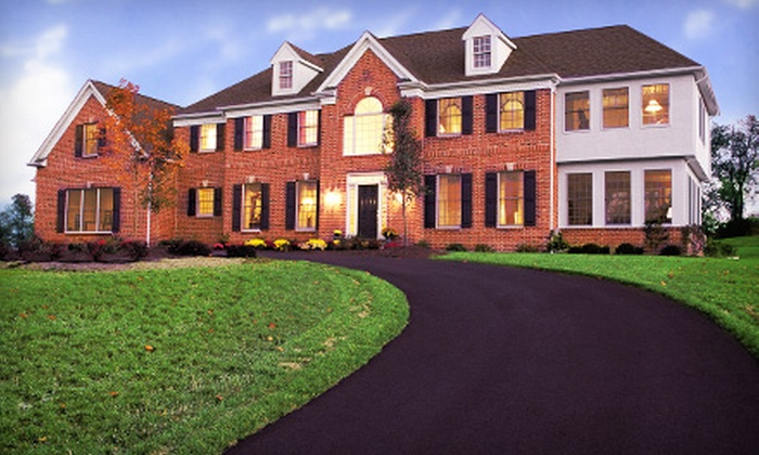 Broadturn Sealcoating - Portland, ME: Asphalt Seal Coating for a Driveway or Lot from Broadturn Sealcoating (Half Off). Two Options Available.
