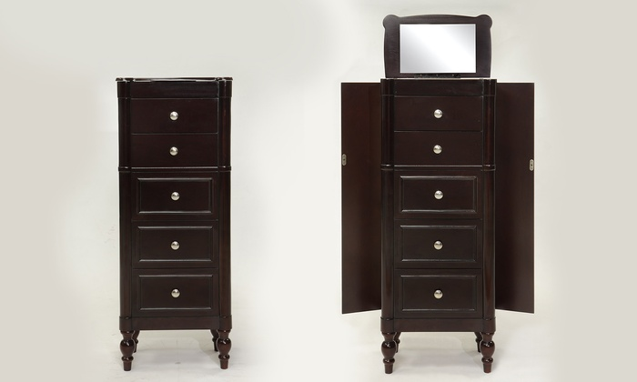 Jewelry Storage With Mirror Groupon Goods