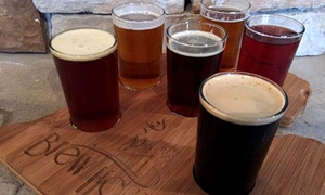Brew House: Two or Four Beer or Wine Flights with Choice of Chips and Dip at Brew House (Up to 51% Off)