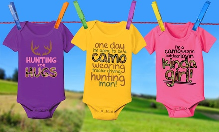Country Casual Infant Onesies. Multiple Styles Available. Free Returns.