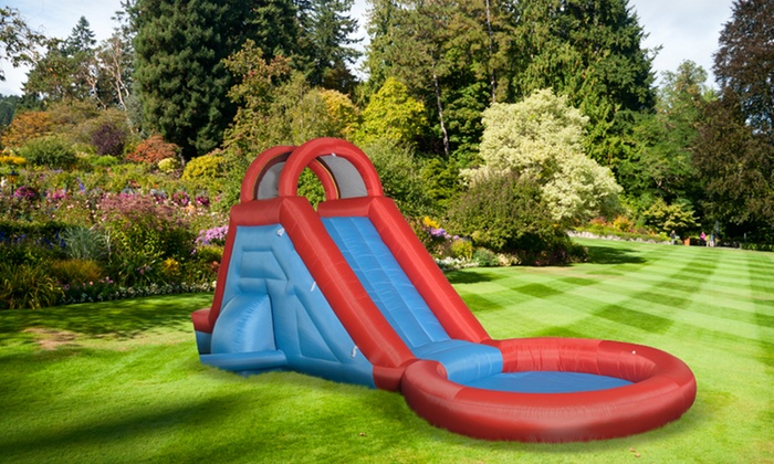 Best Water Slides For Backyard inflatable water slide and pool | groupon goods